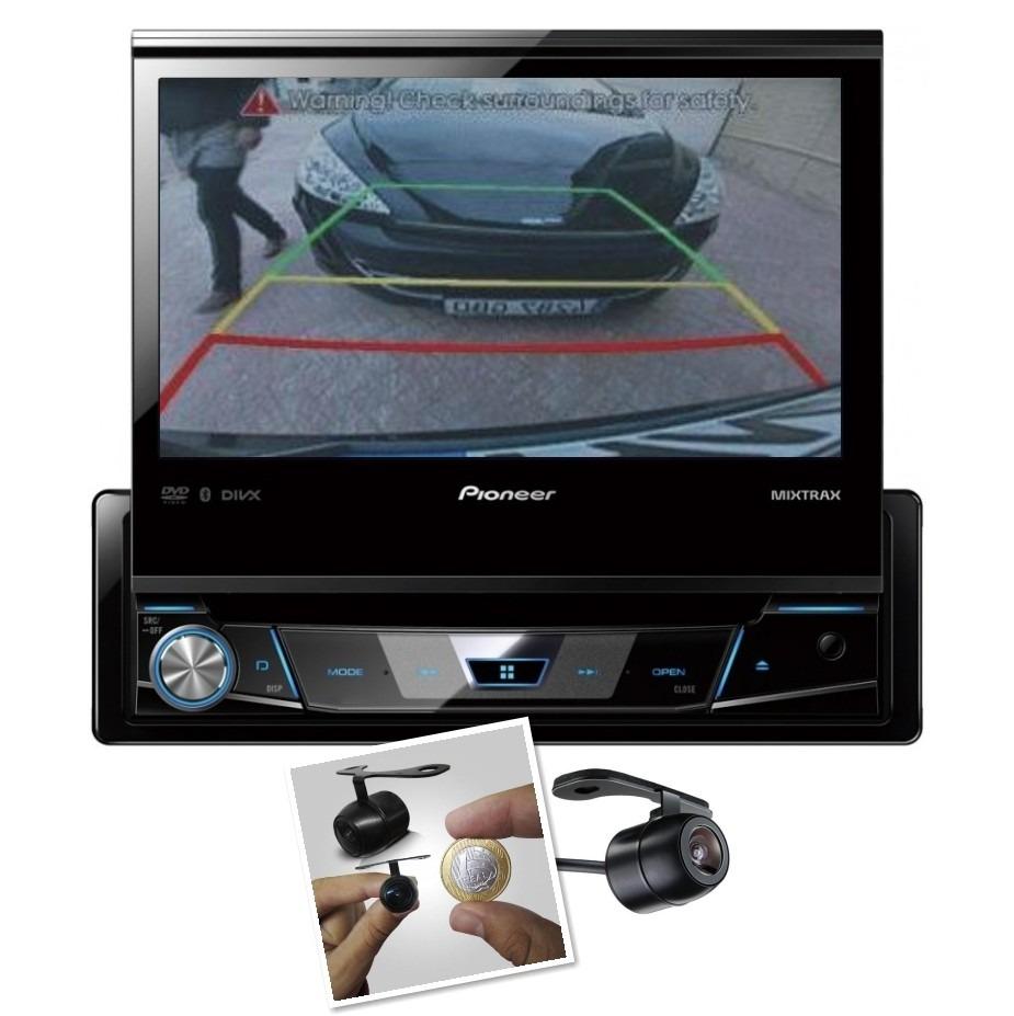 Dvd Player Retrátil Automotivo Pioneer Avh-7780tv + Camera de Ré Touch Screen Bluetooth Tv Digital