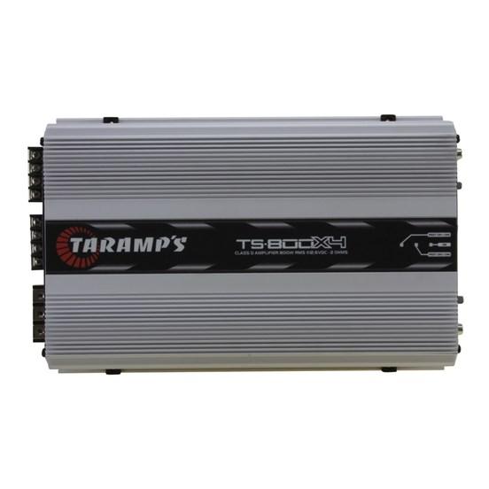 Módulo Amplificador Digital Taramps TS-800x4 - 4 Canais - 960 Watts RMS - Impedância: 1 Ohm
