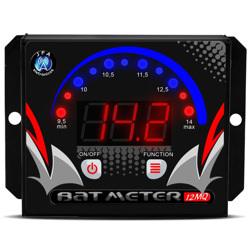 Voltímetro Digital JFA 12MQ LED  Azul