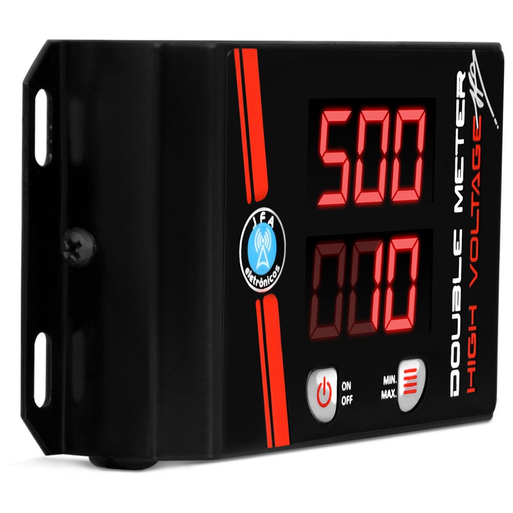 Voltímetro JFA Double Meter Low High Voltage Azul Medidor Bateria