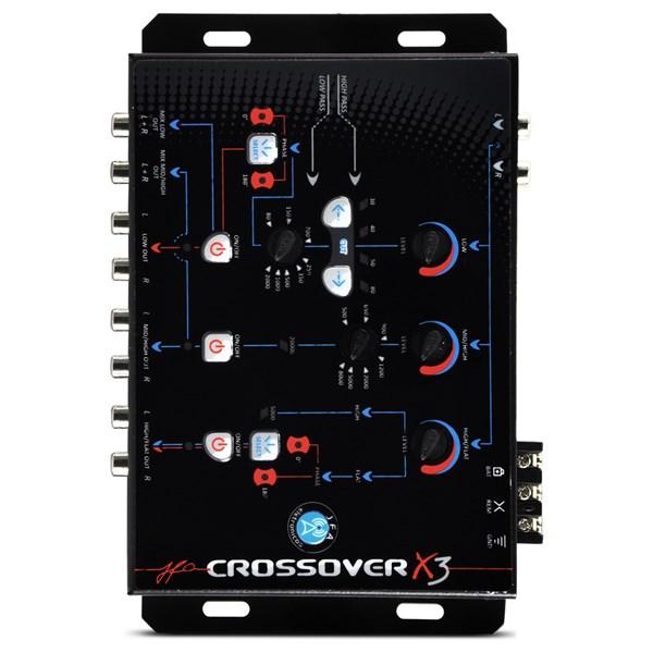 Crossover Jfa Automotivo X3 Digital Eletronico 3 Vias Som