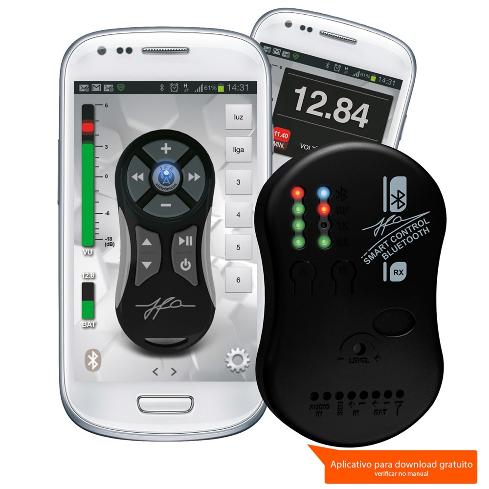 Controle Jfa Smart Control Via Smartphone Bluethooth Prata