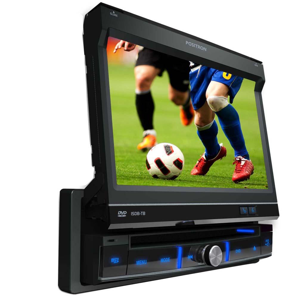 Dvd Player Automotivo Positron SP6700 Retrátil 7 Polegadas Touch Screen TV Digital USB