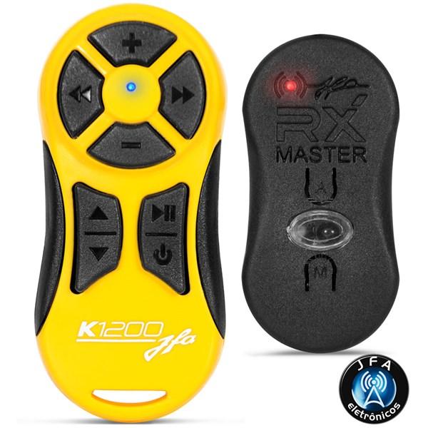 Controle Longa Distância JFA K1200 Alcance de 1200 Metros Amarelo