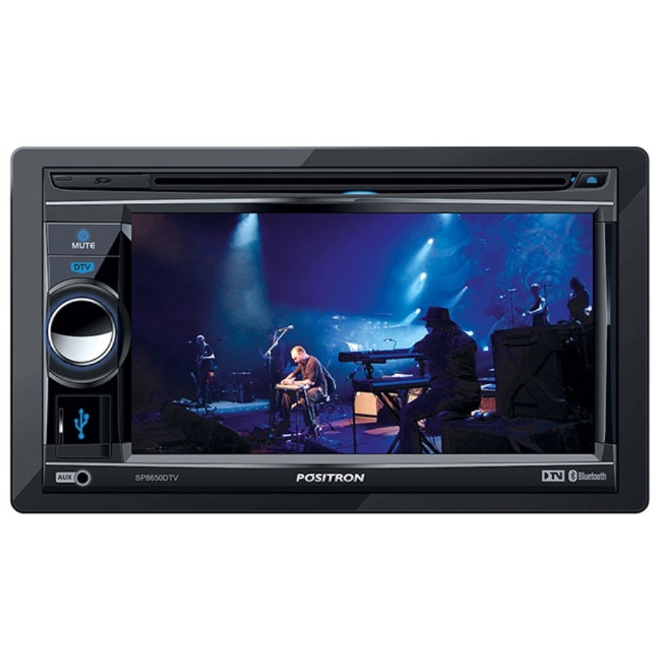 Dvd Player Automotivo Positron SP8650 DTV 2 Din Touch Screen Tv Digital  Bluetooth USB