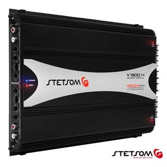 Módulo Amplificador Stetsom Venom V1300.4 400W RMS 4 Canais 2 Ohms