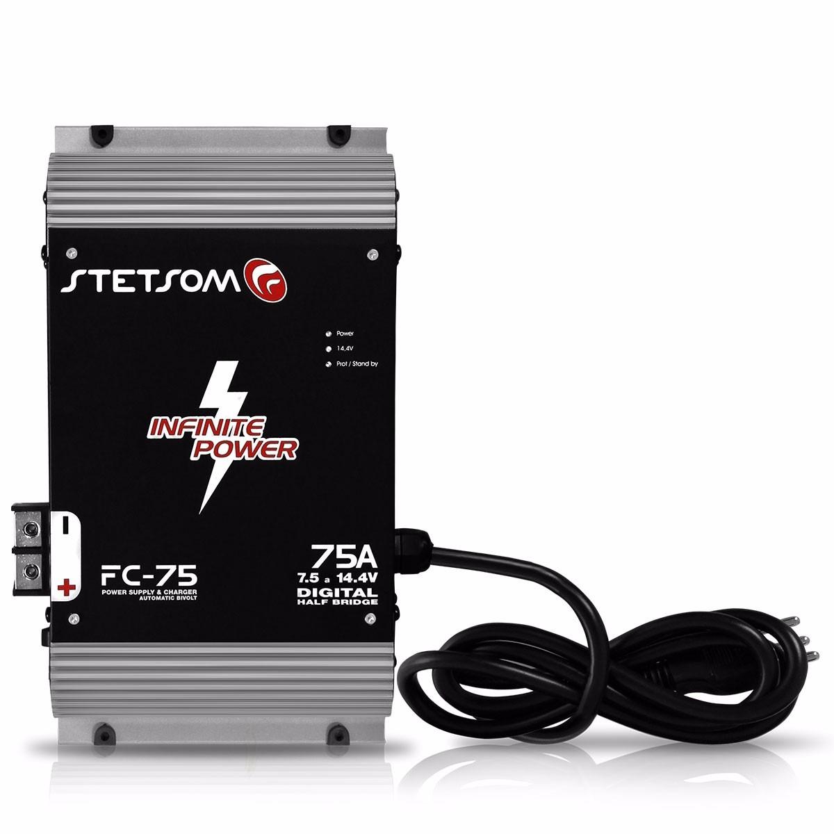Fonte Automotiva Stetsom Fc-75 75 Amperes