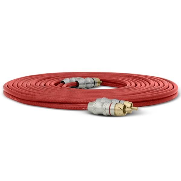 Cabo RCA Stetsom 5 Metros 5mm² Vermelho Plug Banhado a Ouro