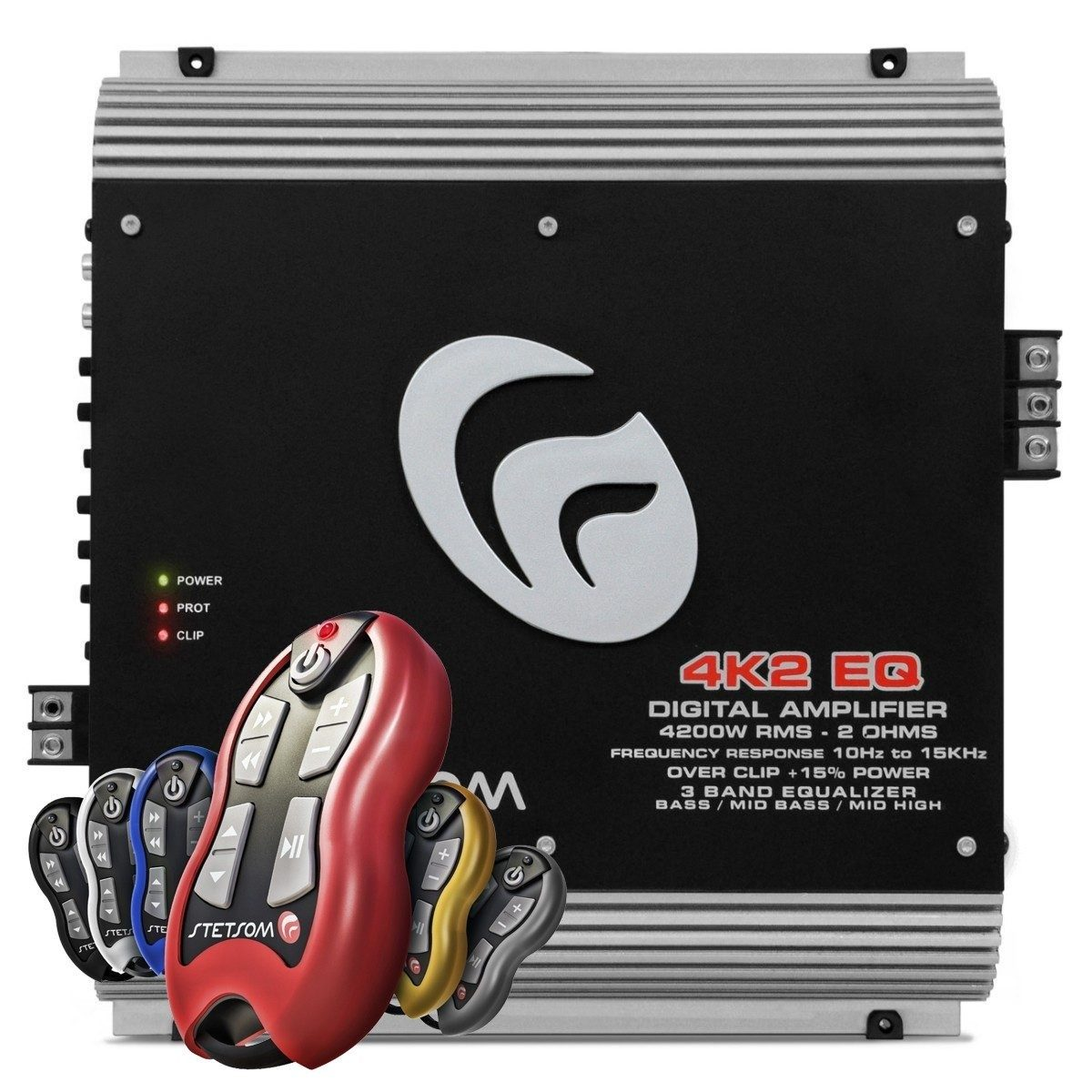 Amplificador Potencia Stetsom Vulcan 4k2 Eq + Controle Sx1