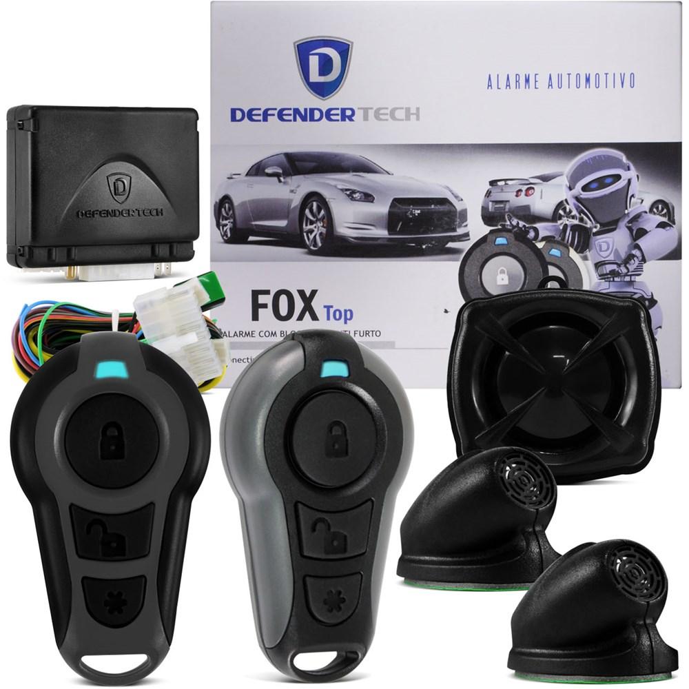 Alarme Automotivo Defendertech Fox Top Carro Resgate Bloqueador