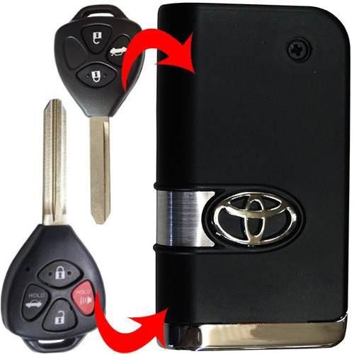 Chave Canivete preta Toyota Corolla Novo 2009 em diante
