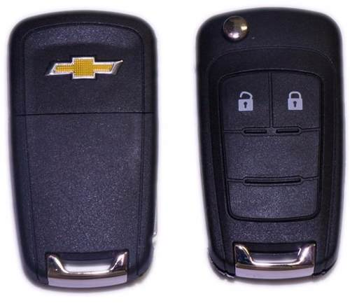 Chave Canivete Gm Chevrolet Sonic Cobalt Cruze Onix S10 2 botoes