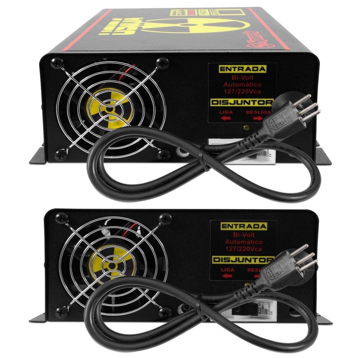 Carregador De Bateria Carro Fonte Usina Spark 200 Amperes