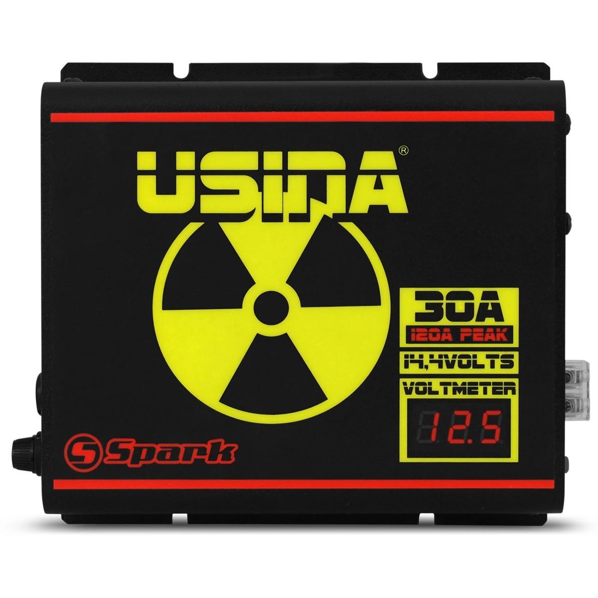 Fonte Carregador De Bateria Som Automotivo Usina 30 Amperes