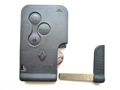 Chave Renault Megane - Kit Carcaça Original - Cartão