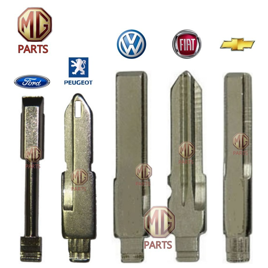 Lâmina Virgem Para Chave Canivete Vw Fiat Honda Ford Gm