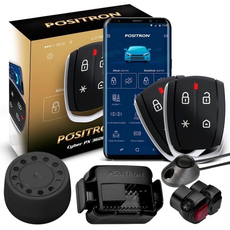 Alarme Automotivo Carro Positron PX 360 Presença Resgate Desliga Som