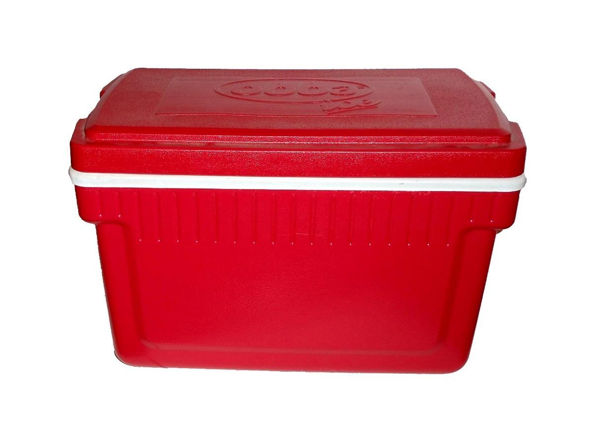 Caixa Térmica 34 Litros Acampamento Vermelha