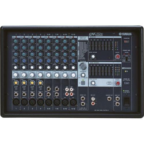 Mesa de SOM Amplificada de 600W 12 Canais EMX312SC Yamaha