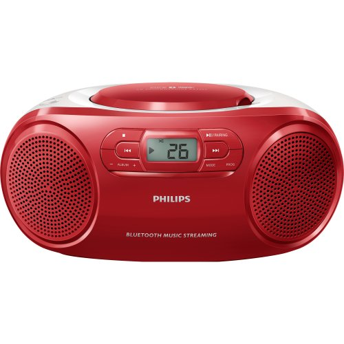 Radio Portatil com CD PLAYER/USB/MP3/FM/BLUETOOTH AZ331TX/78 Vermelho Philips