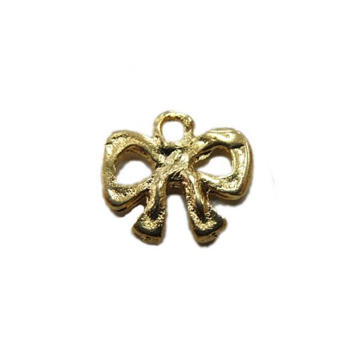 Pingente Lacinho dourado (10 unidades)- PTD032