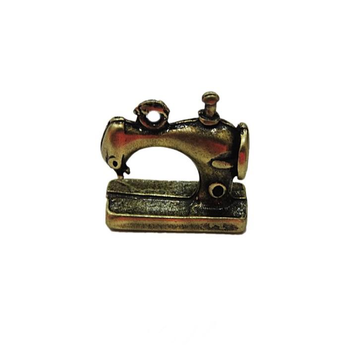 Pingente ouro velho máquina de costura- PTO087