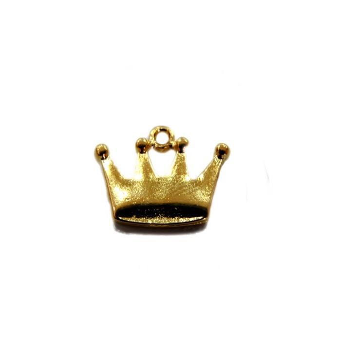 Pingente Coroa I dourada- PTD040