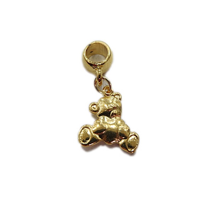 Berloque Dourado Urso BED034
