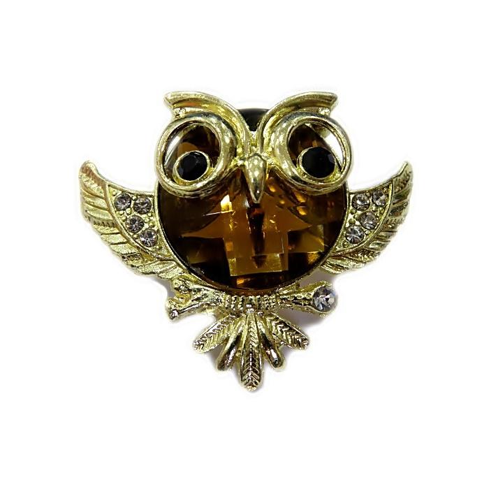 Piercing Coruja grande dourada (Par)- PID067
