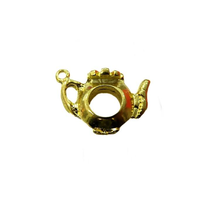 Pingente Bule II dourado da Alice- PTD061