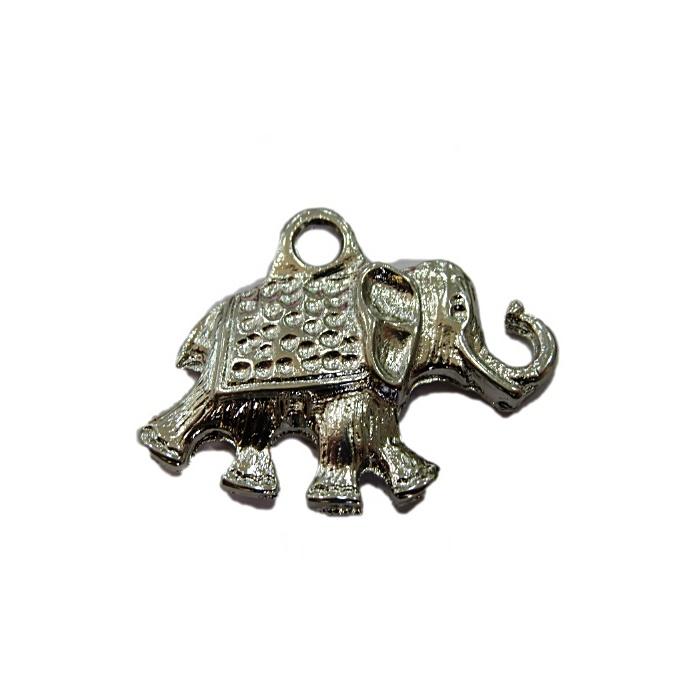 Pingente Elefante níquel grande- PTN035