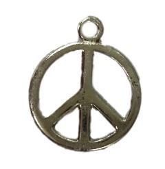 Pingente Paz e amor médio níquel (10 unidades)- PTN051