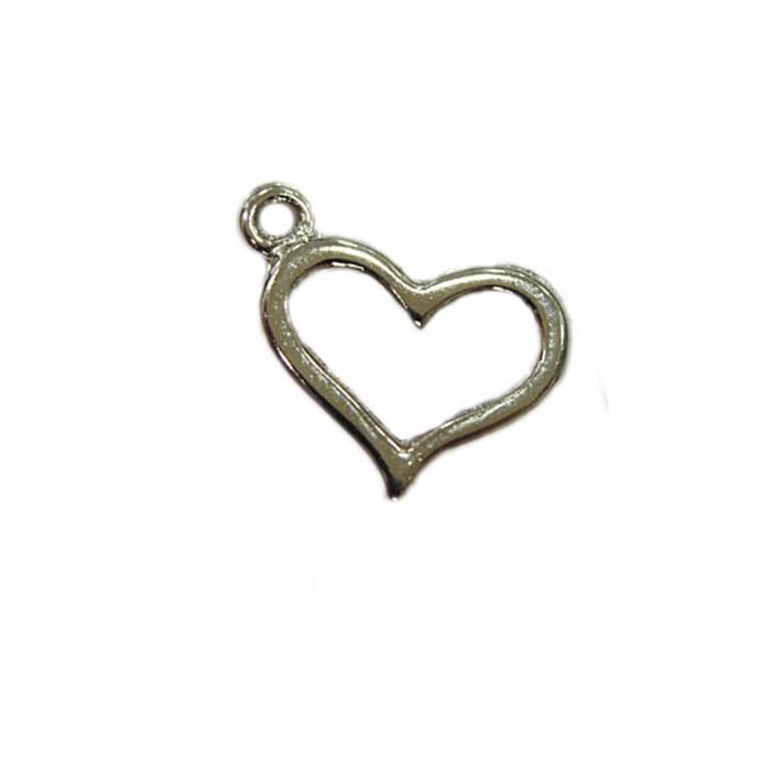 Pingente Coração níquel (10 unidades) - PTN063