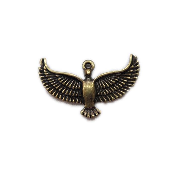 Pingente Pomba ouro velho- PTO023