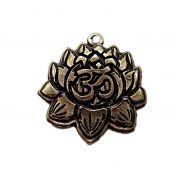 Pingente Flor de Lotus ouro velho- PTO021