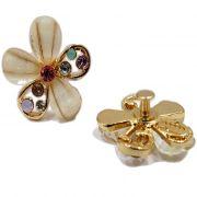Piercing Flor II dourada (Par)- PID014
