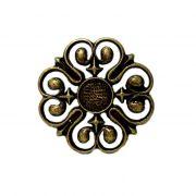 Fivela de cinto flor ouro velho- FC002