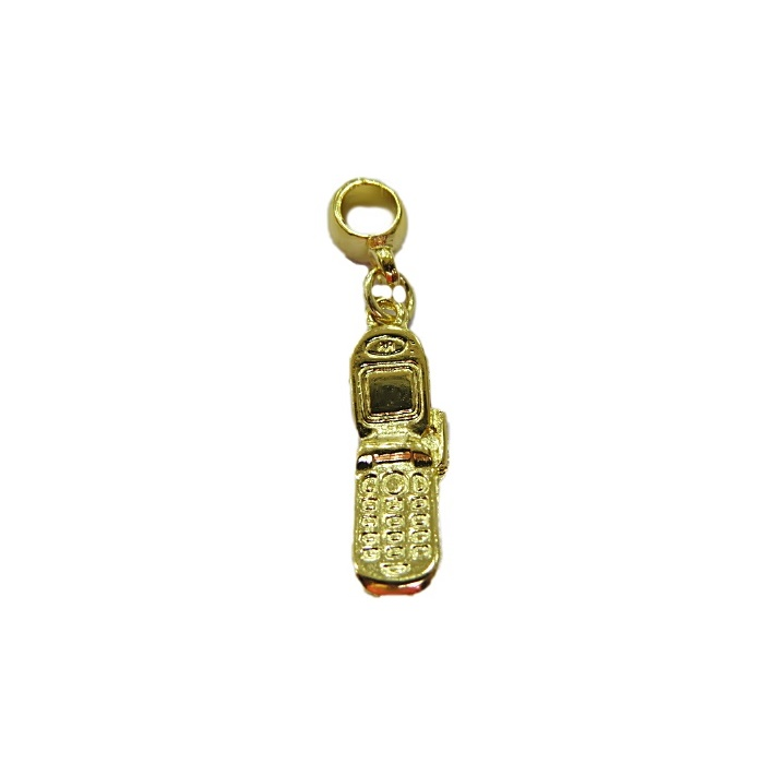 Berloque Dourado Celular BED084