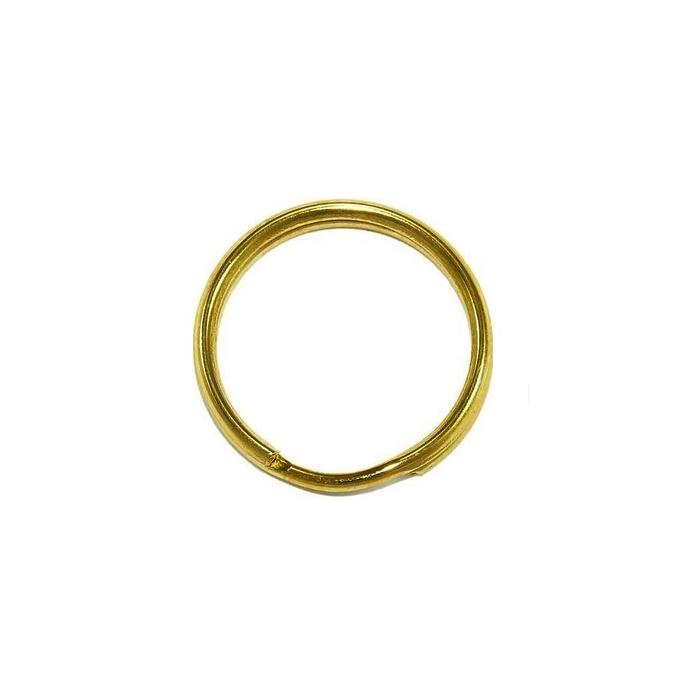 Argola de chaveiro lisa dourada s/ corrente (20 unidades)- ARD002