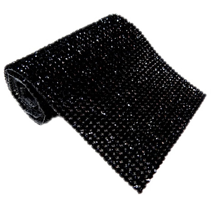 Manta de strass preta- MS004
