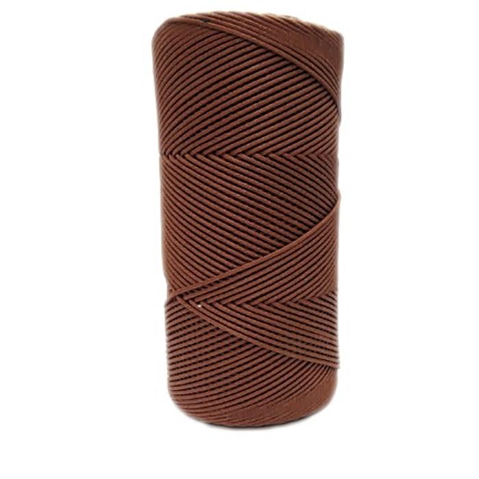 Cordão encerado fino conhaque (2079)- CDF014 ATACADO
