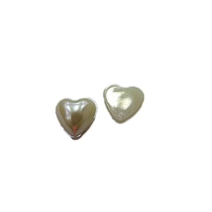 Meia pérola de coração Nº 10 (200 unid.)- MPC001