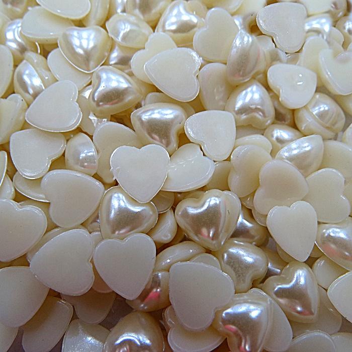 Meia pérola de coração Nº 10 (250grs)- MPC001 ATACADO