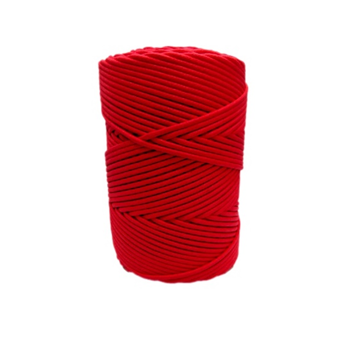 Cordão encerado grosso vermelho( 7716) 10mts- CDG003