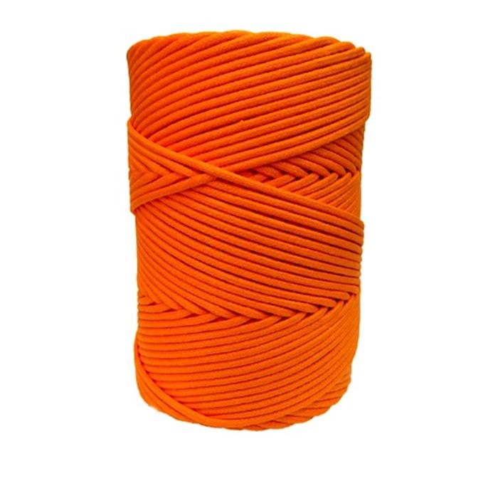 Cordão encerado grosso laranja citrico  (4730)- CDG021 ATACADO
