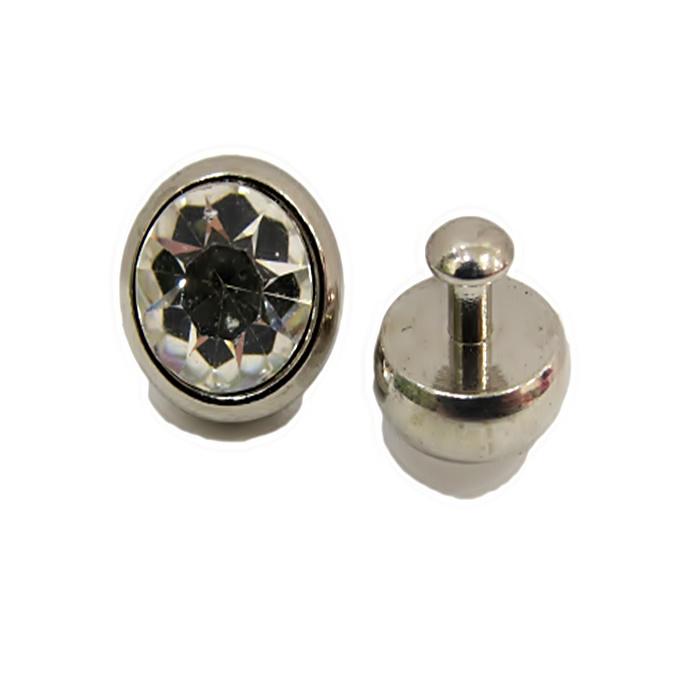 Piercing Ponto de luz grande níquel (par)- PIN020