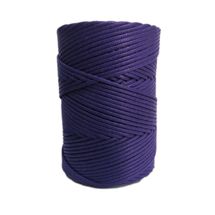 Cordão encerado grosso violeta (6868)- CDG029 ATACADO