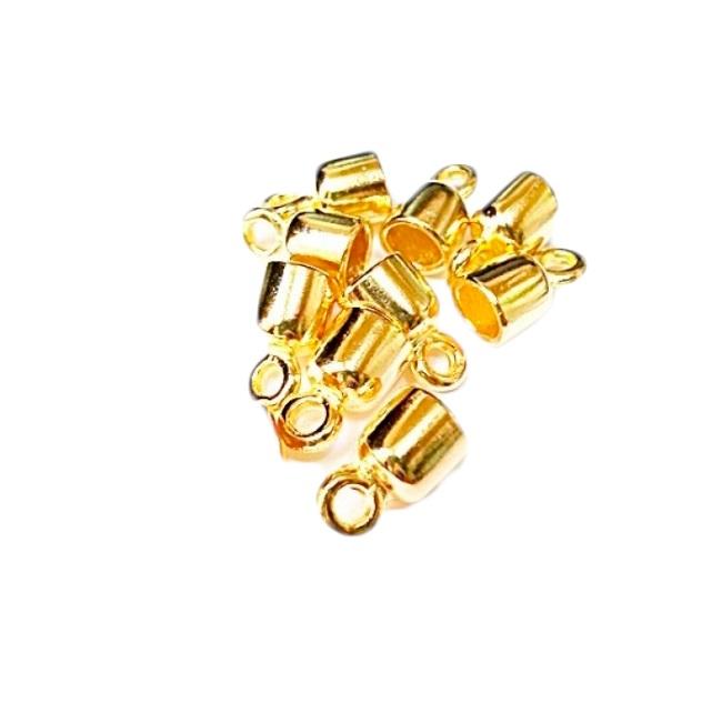 Terminal de colagem dourado Redondo P (10 unid.)- TCD006