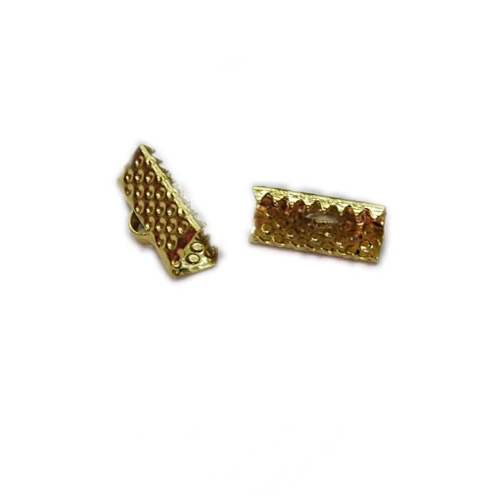 Terminal de garrinha dourado 13mm (250 unid.) -TGD003 ATACADO