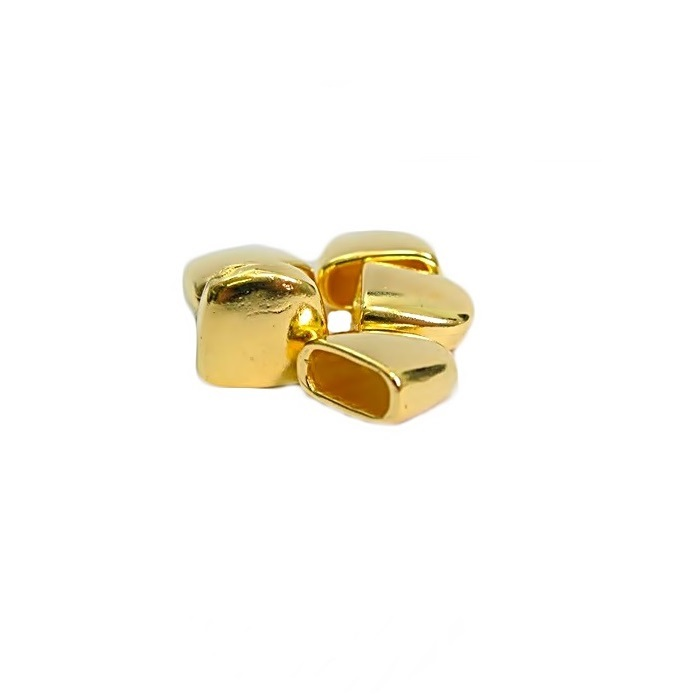 Ponteira de colagem Dourada G (4 unid.)- PCD003
